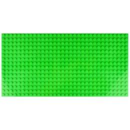Двусторонняя строительная пластина 12.5x25 см зеленая (2 шт.)