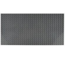 Двусторонняя строительная пластина 12.5x25 см темно-серая (2 шт.)