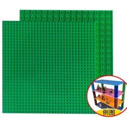 Двусторонняя строительная пластина 25x25 см зеленая