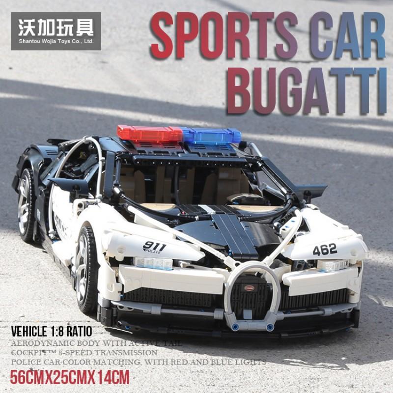 3388D Decool Полицейская машина Bugatti Chiron