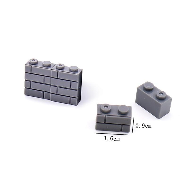 JX017-1 Elephant Строительный блок 1 х 2 темно-серый - 100 шт.