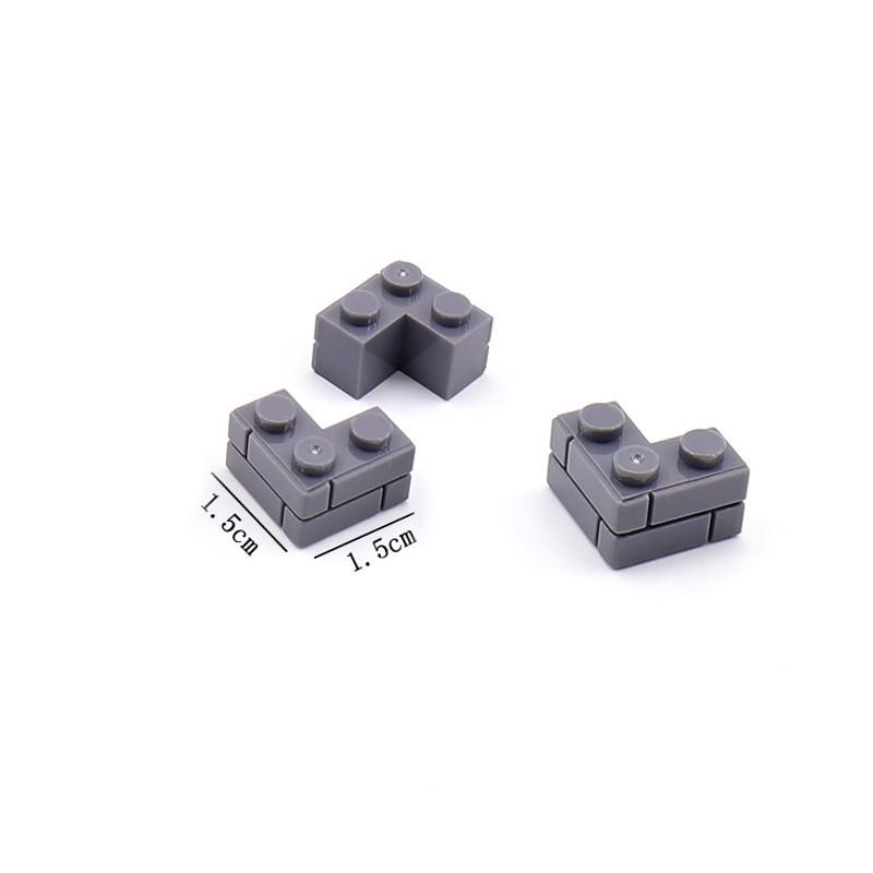 JX019-1 Elephant Строительный блок угловой 1 х 3 темно-серый - 100 шт.