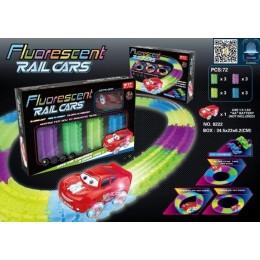 Конструктор Гоночная трасса Fluorescent Rail Cars - Magic Tracks 72 детали