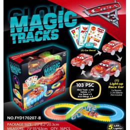 Конструктор Гоночная трасса Magic Tracks 103 детали