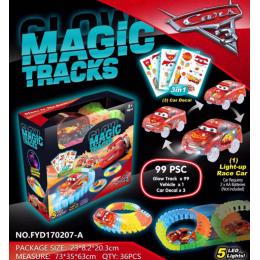 Конструктор Гоночная трасса Magic Tracks 99 деталей