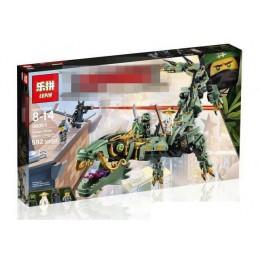 89037 King&Queen Механический дракон Зелёного ниндзя (БЕЗ КОРОБКИ)