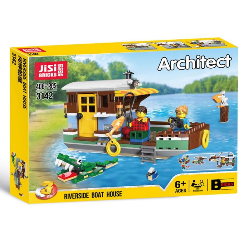 3142 JiSi Bricks Плавучий дом (3 в 1)