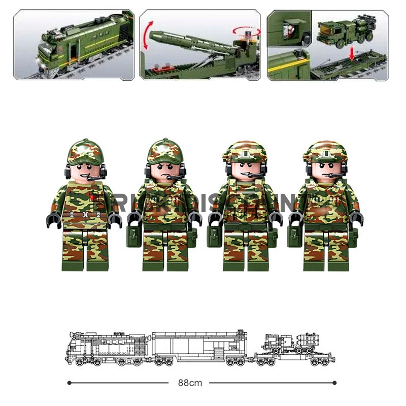 KY98252 Kazi Военный поезд и ж/д ракетный комплекс