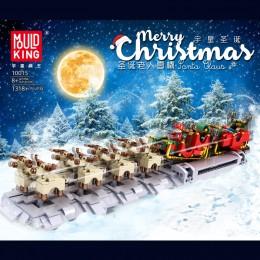 10015 MOULD KING Сани Санты с оленями и подарками