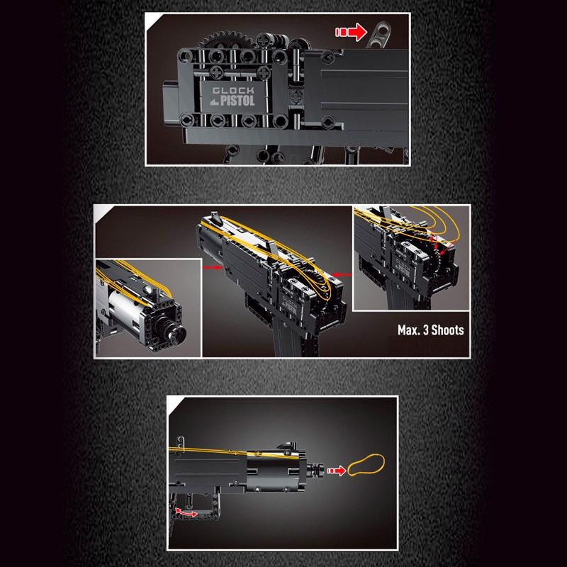 14008 MOULD KING Пистолет Glock