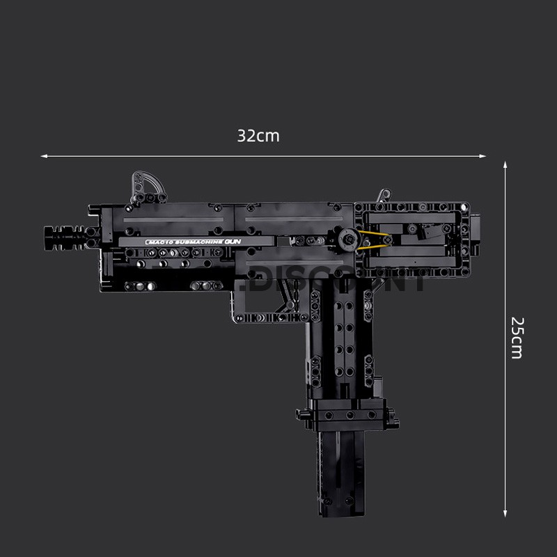 14012 MOULD KING Пистолет-пулемет Ingram Mac-10