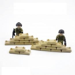 Военные элементы - бежевые мешки с песком 100 штук