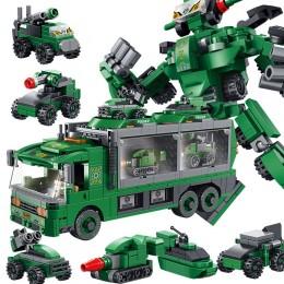 659002 Panlos Brick Военный автомобиль трансформер 6 в 1