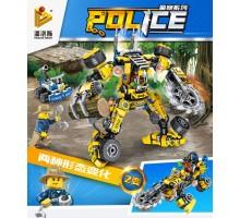 681004A Panlos Brick Полицейская серия: робот для лесозаготовок