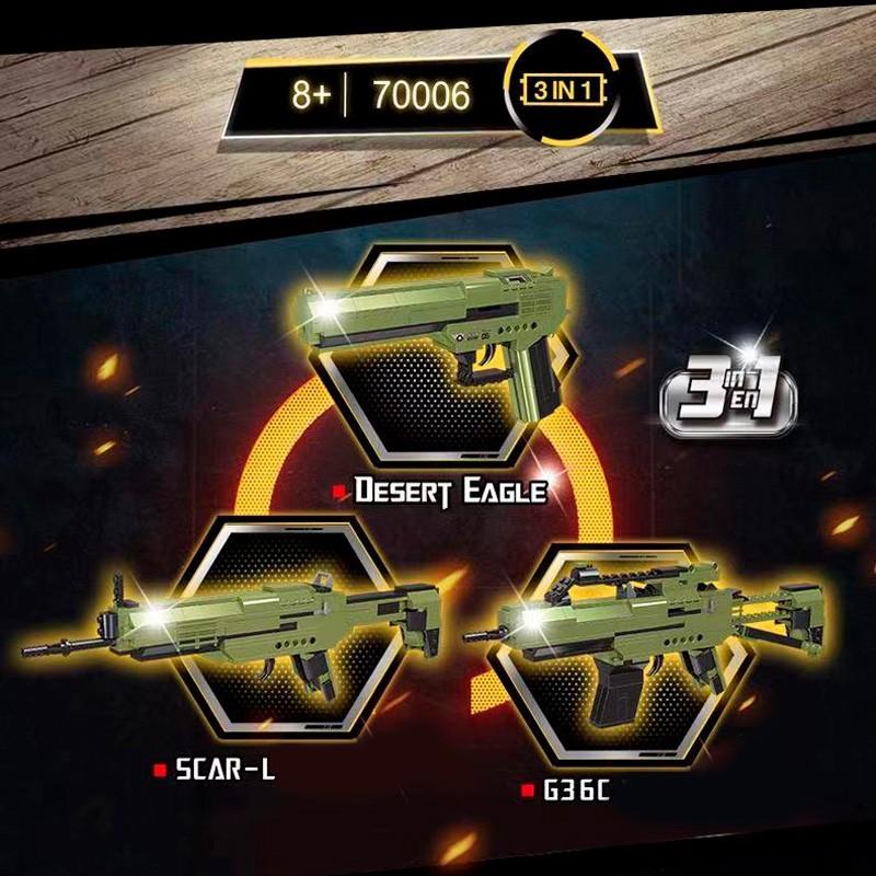 70006 RAEL 3 в 1: пистолет Desert Eagle, автомат SCAR-L, G36C