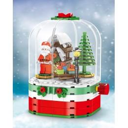 601090 Sembo Block Хрустальный шар Санта-Клауса