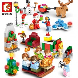 601092 Sembo Block Рождественская ночь - набор 8 в 1