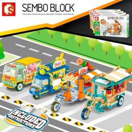 601212-601215 Sembo Block Набор из 4 автолавок Mini Street View