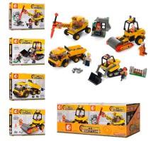 606017-606020 SY Набор строительной техники 4 в 1