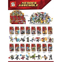 1060 SY Набор 16 в 1 Super Heroes