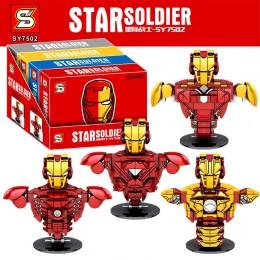 SY7502 SY Железный Человек (4 фигурки-бюста)