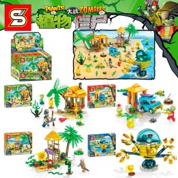 SY1453 SY Растения против Зомби: набор из 4 конструкторов