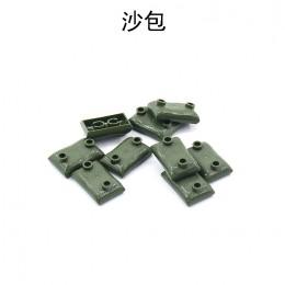 Военные элементы - темно-зеленые мешки с песком 100 штук