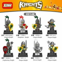 X0148 XINH Набор минифигурок рыцарей - 8 шт.